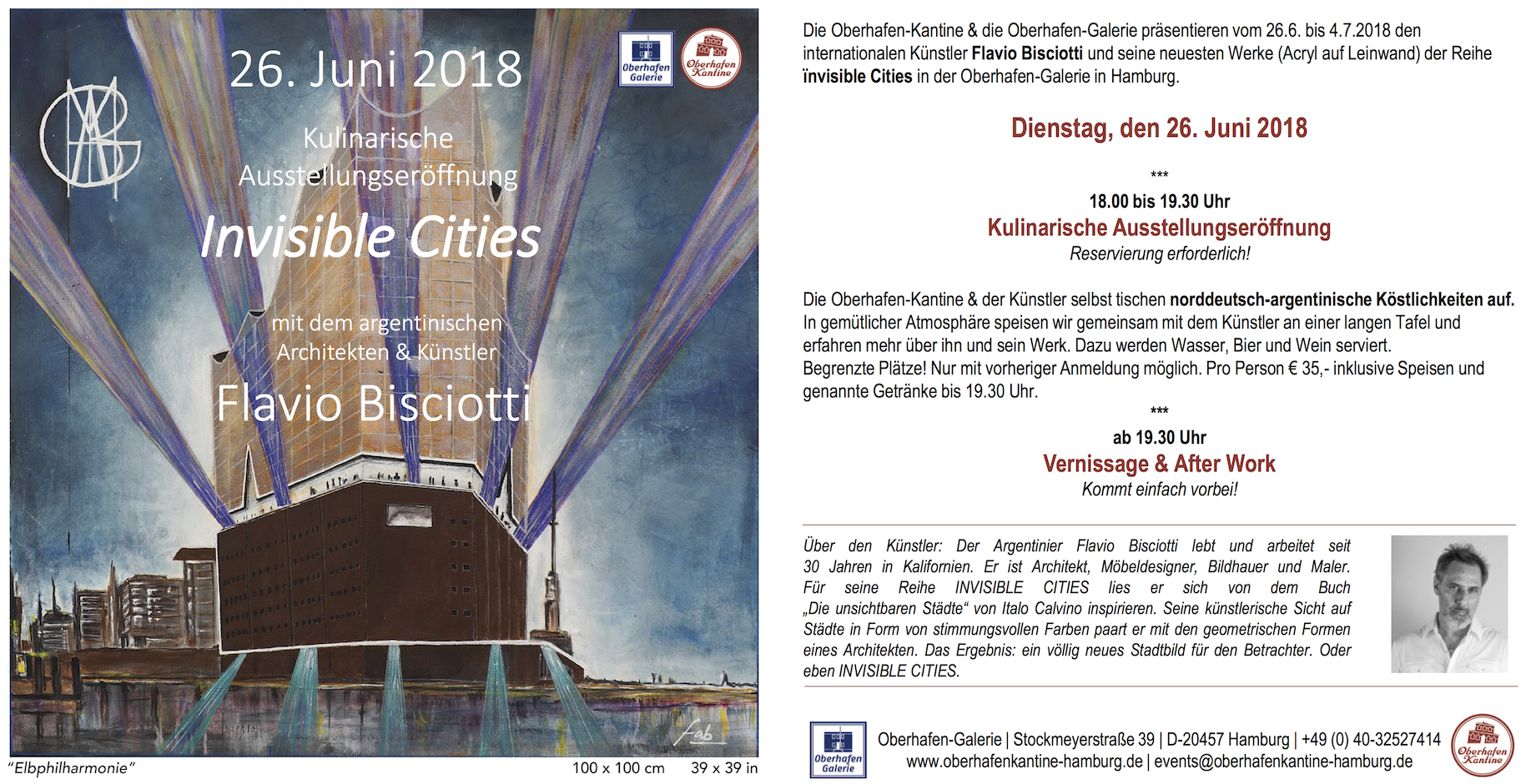 'Invisible Cities' - Hamburg, Germany - June 2018
