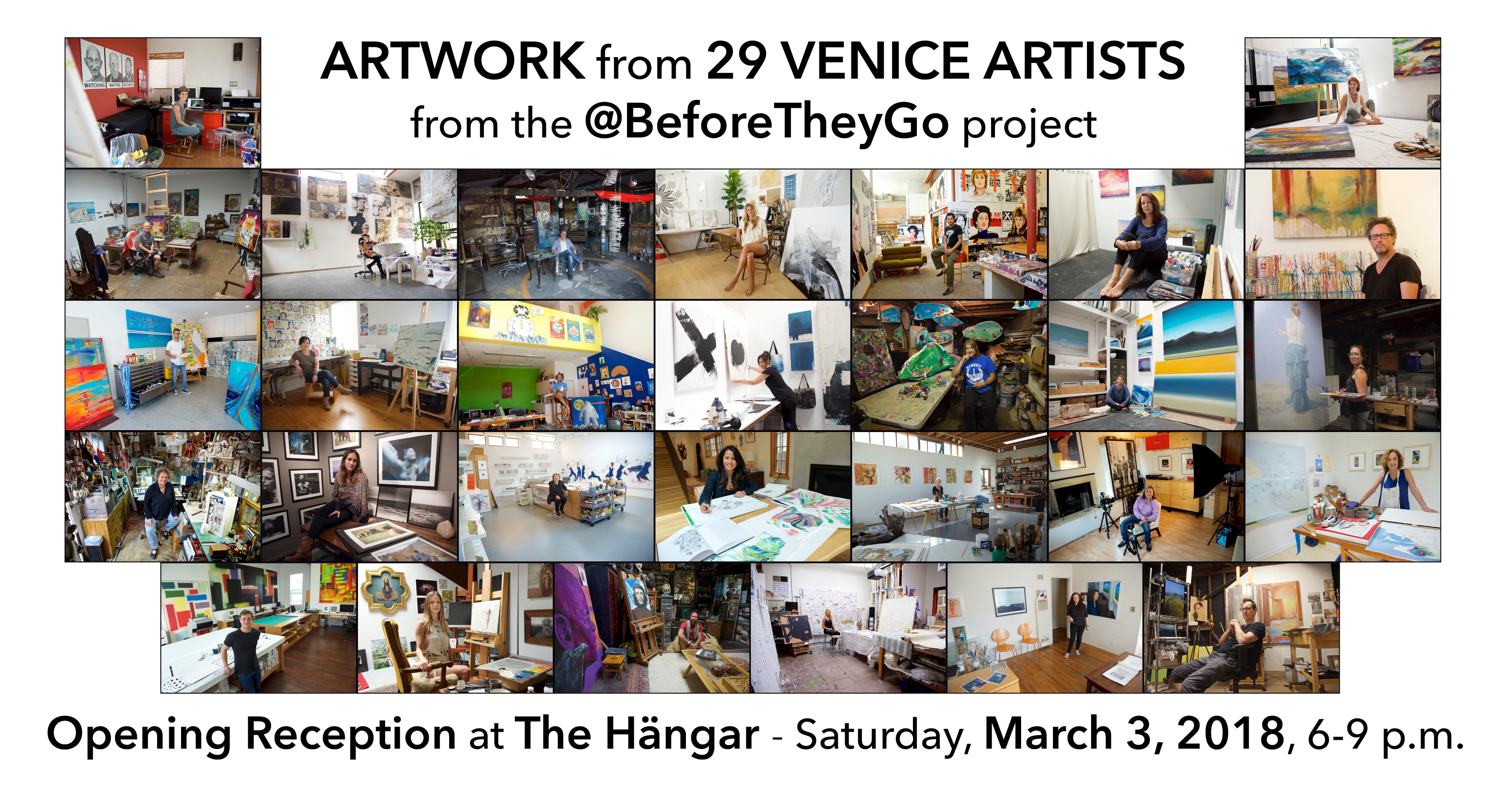'Before They Go - 29 Venice Beach artists' - The Hängar, Los Angeles, CA - March 2018