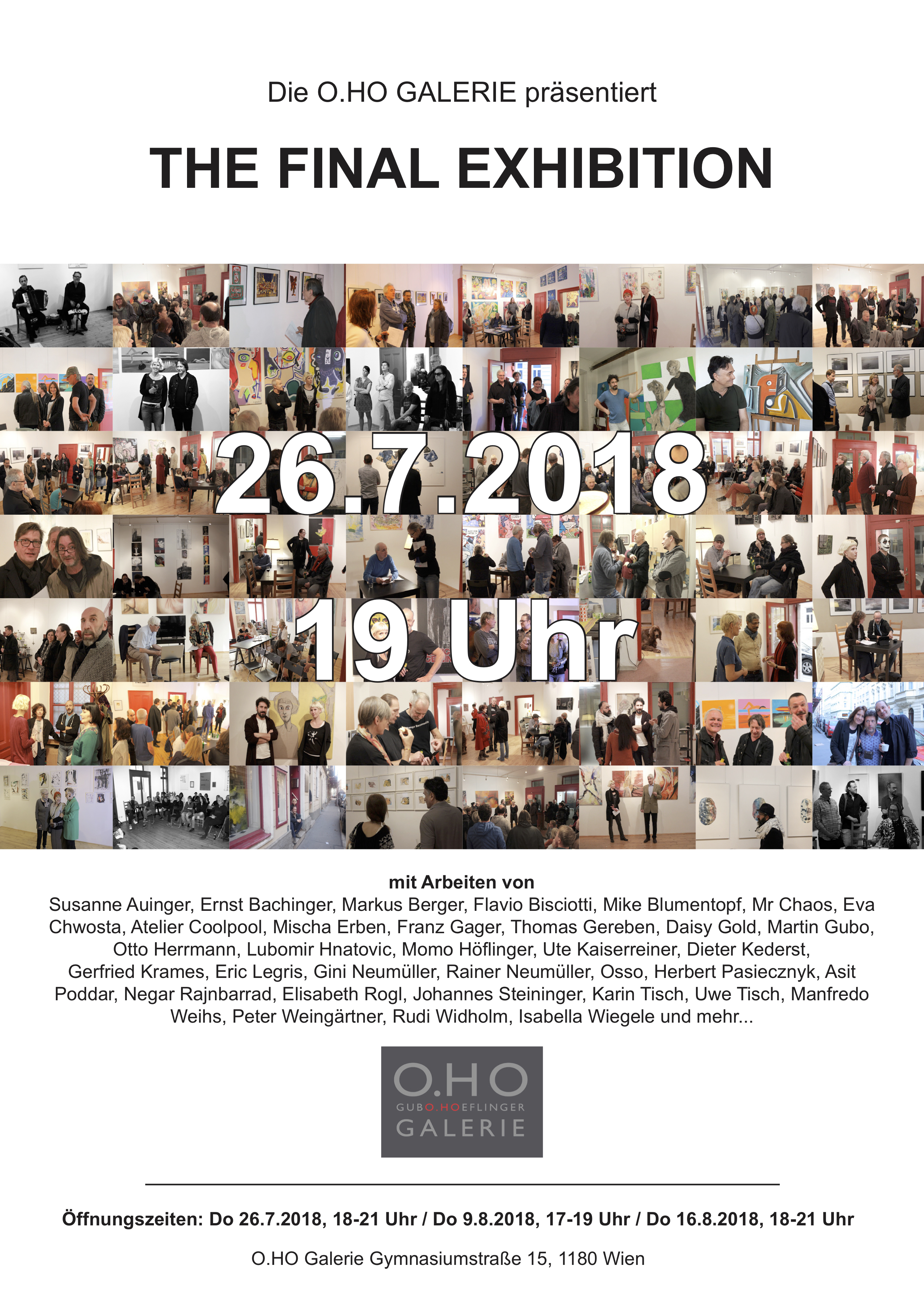 O.HO Gallery - The Final Exhibition, July 2018